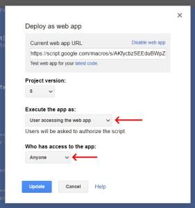 Google Apps Script WebApp executing as User for unique key