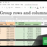 Google Sheets Beginners: Grouping Rows and Columns (36)