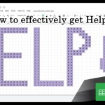 Google Sheets Beginners: Getting Help (44)