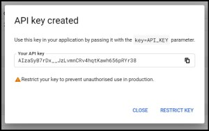 Apps Script Project Settings for GWAO Create API Key in Google Cloud Console 3