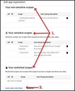 Apps Script Project Settings for GWAO GCP Scope adding 4