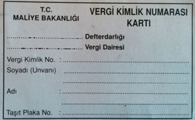 الرقم الضريبي التركي