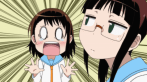Miyamoto Ruri encourages Onodera Kosaki to go to the front stage. (Nisekoi)