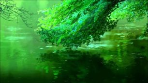 Green tone leaves & water. (The Garden of Words)
