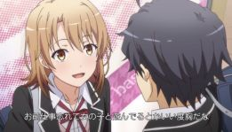 Hikigaya Hachiman (比企谷 八幡) is not the one who feels uncomfortable when Isshiki Iroha (一色いろは) is approaching him. (Yahari Ore no Seishun Love Comedy wa Machigatteiru. Yahari Ore no Seishun Love Come wa Machigatteiru. Yahari Ore no Seishun Rabukome wa Machigatte Iru. Oregairu My Youth Romantic Comedy Is Wrong, as I Expected. My Teen Romantic Comedy SNAFU Yahari Ore no Seishun Love Comedy wa Machigatteiru. Zoku Yahari Ore no Seishun Love Come wa Machigatteiru. Zoku Oregairu Zoku My Teen Romantic Comedy SNAFU TOO! やはり俺の青春ラブコメはまちがっている。 やはり俺の青春ラブコメはまちがっている。続 俺ガイル 果然我的青春戀愛喜劇搞錯了。 果然我的青春戀愛喜劇搞錯了。續 ep 4)