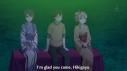 Yukinoshita Haruno (雪ノ下 陽乃) is pleased Hikigaya Hachiman (比企谷 八幡) came (but ignores Yuigahama Yui (由比ヶ浜 結衣) completely). (Yahari Ore no Seishun Love Comedy wa Machigatteiru. Yahari Ore no Seishun Love Come wa Machigatteiru. Yahari Ore no Seishun Rabukome wa Machigatte Iru. Oregairu My Youth Romantic Comedy Is Wrong, as I Expected. My Teen Romantic Comedy SNAFU やはり俺の青春ラブコメはまちがっている。 俺ガイル 果然我的青春戀愛喜劇搞錯了。 ep 9)