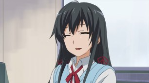 Yukinoshita Yukino (雪ノ下 雪乃) is so tired since she laughed too much. (Yahari Ore no Seishun Love Comedy wa Machigatteiru. Yahari Ore no Seishun Love Come wa Machigatteiru. Yahari Ore no Seishun Rabukome wa Machigatte Iru. Oregairu My Youth Romantic Comedy Is Wrong, as I Expected. My Teen Romantic Comedy SNAFU やはり俺の青春ラブコメはまちがっている。 俺ガイル 果然我的青春戀愛喜劇搞錯了。 anime ep 11)