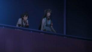 Hikigaya Hachiman (比企谷 八幡) & Yukinoshita Yukino (雪ノ下 雪乃) are watching the performance that Yukinoshita Haruno (雪ノ下 陽乃) participated. (Yahari Ore no Seishun Love Comedy wa Machigatteiru. Yahari Ore no Seishun Love Come wa Machigatteiru. Yahari Ore no Seishun Rabukome wa Machigatte Iru. Oregairu My Youth Romantic Comedy Is Wrong, as I Expected. My Teen Romantic Comedy SNAFU やはり俺の青春ラブコメはまちがっている。 俺ガイル 果然我的青春戀愛喜劇搞錯了。 anime ep 12)