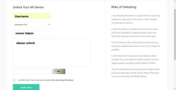 Cara Legal Unlock Bootloader Xiaomi