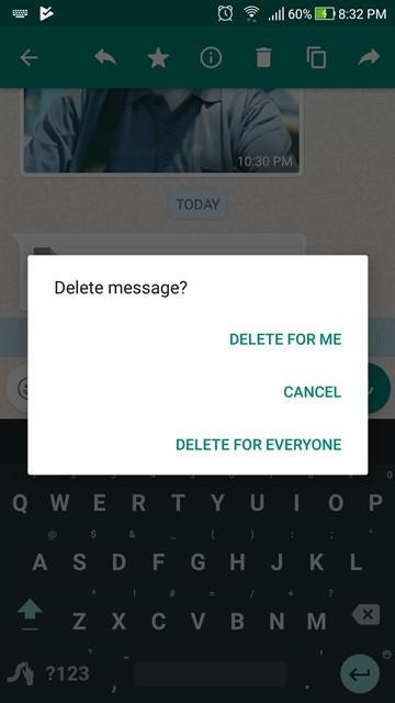 Menarik kembali pesan di WhatsApp