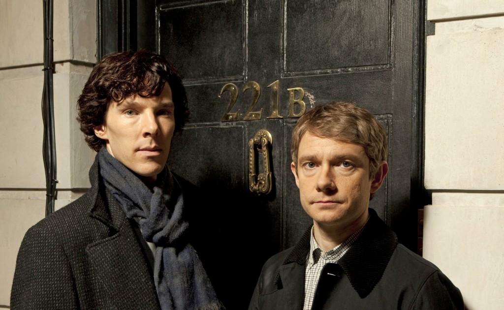 Sherlock and Watson in the BBC drama Sherlock