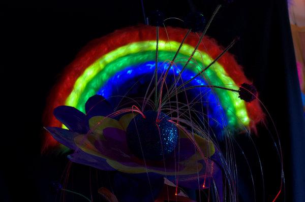 Fibre-optic flower.
