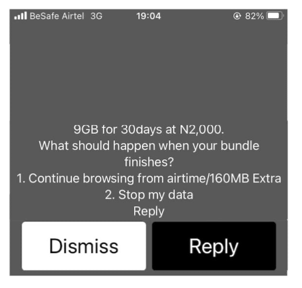 Airtel cheap data code, how to stop my browsing from my airtime balance