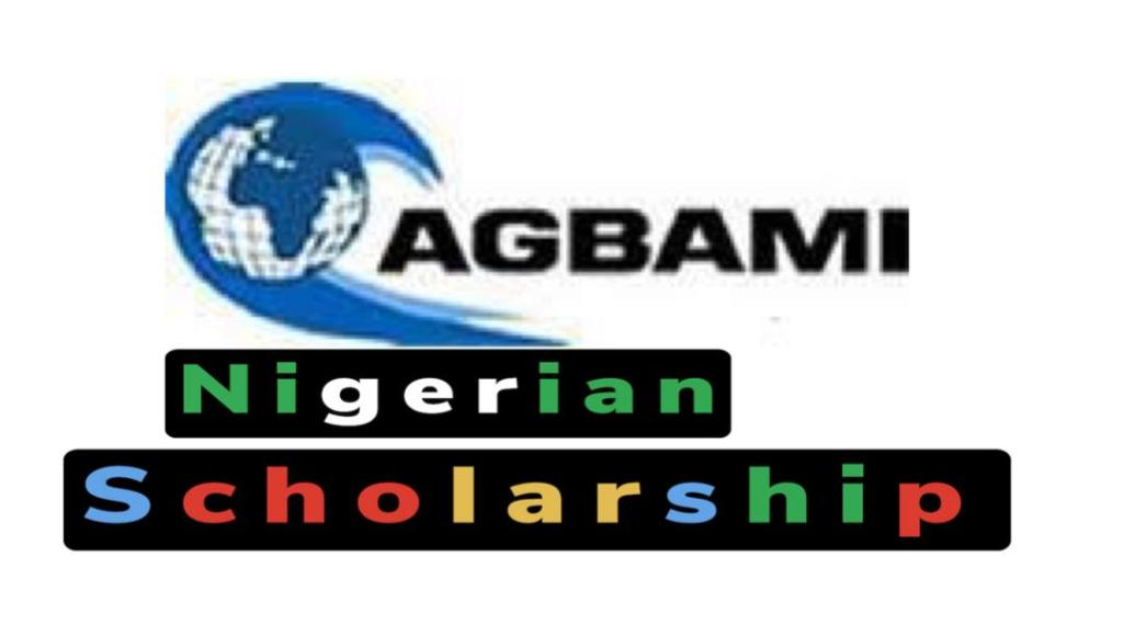 apply for agbami scholarship: 2021-2022 session