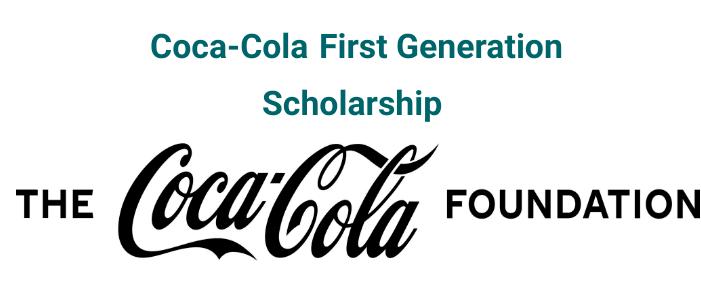 Coca Cola First Generation Scholarship