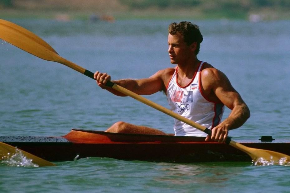 Big Man in Kayak