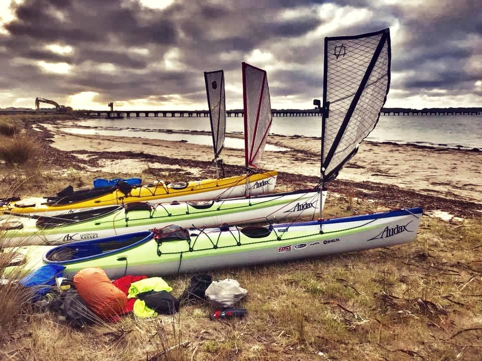 Flat Earth Kayak Sails