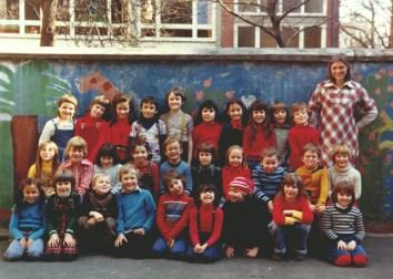Klassenfoto am Weiher 1978