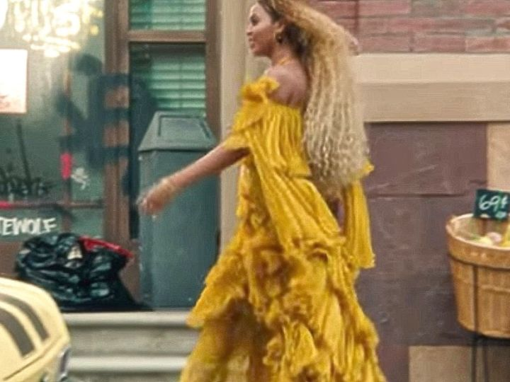 wearing yellow lessons from Queen Bey