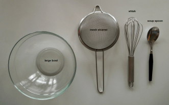 Tools for the recipe