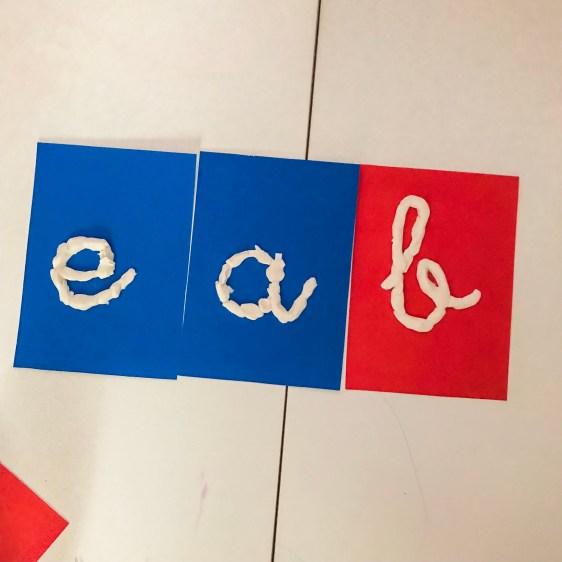 letras montessori diy