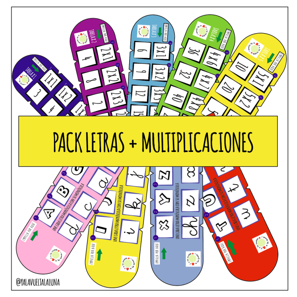 PACK LETRAS + MULTIPLICACIONES