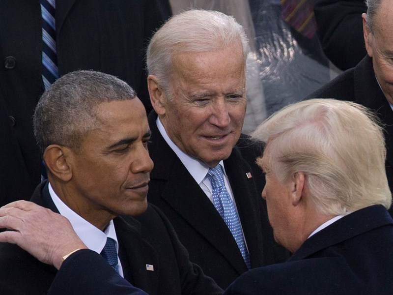 Trump, Biden and Obama