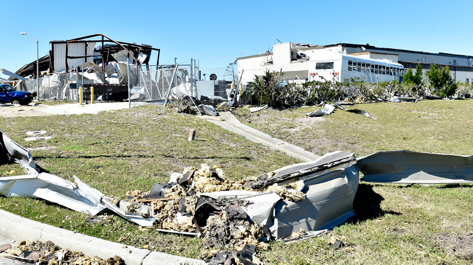Damage from hurricane