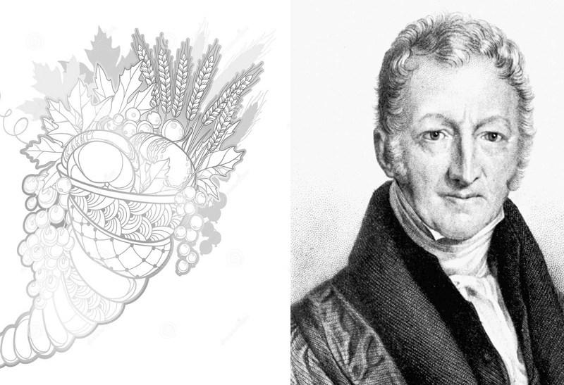 Horn of plenty and Malthus