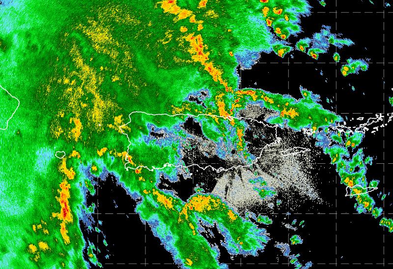 Tropical storm Isaias radar