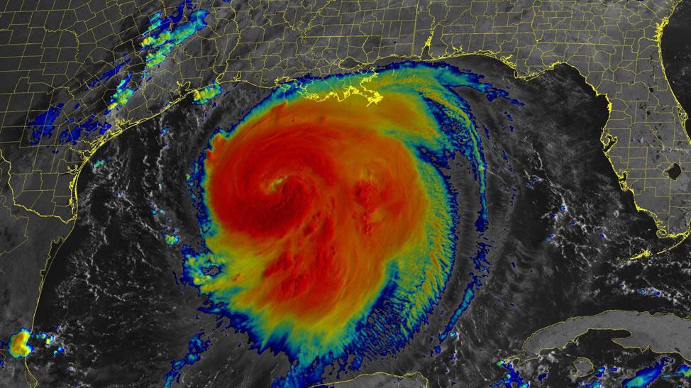 Infraread satellite image