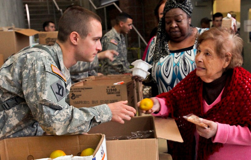 Army helping after disaster