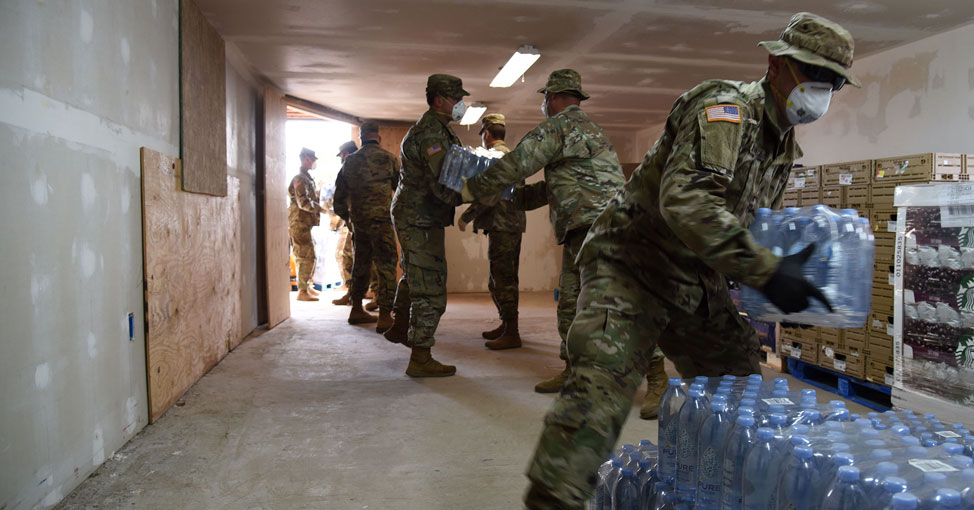 National Guard helping with supplies