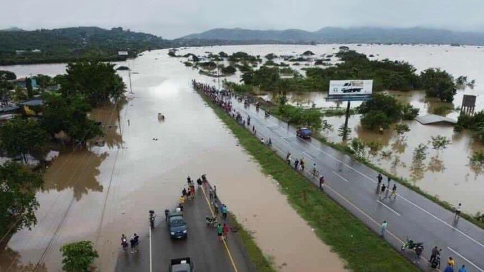 Iota flooding in Honduras