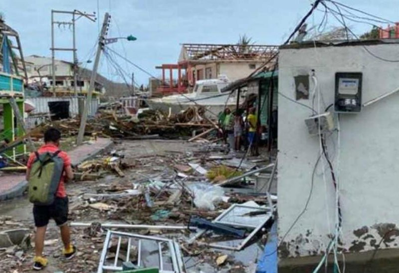 Hurricane Iota damage in Providencia