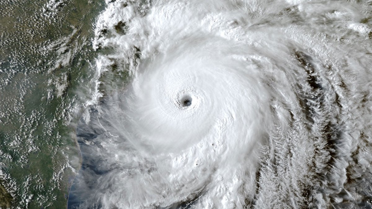 Hurricane Laura satellite view