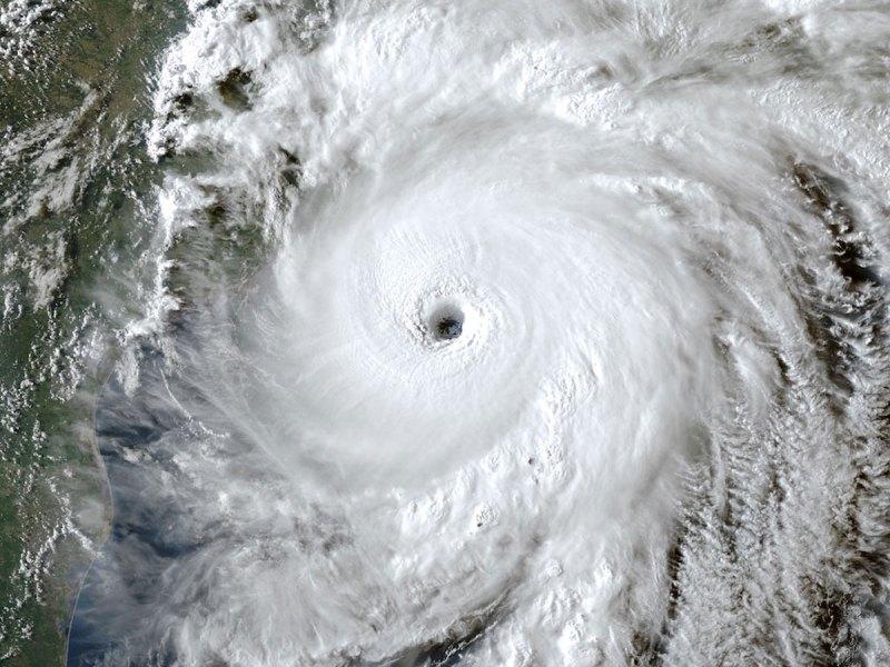 Hurricane Laura satellite view