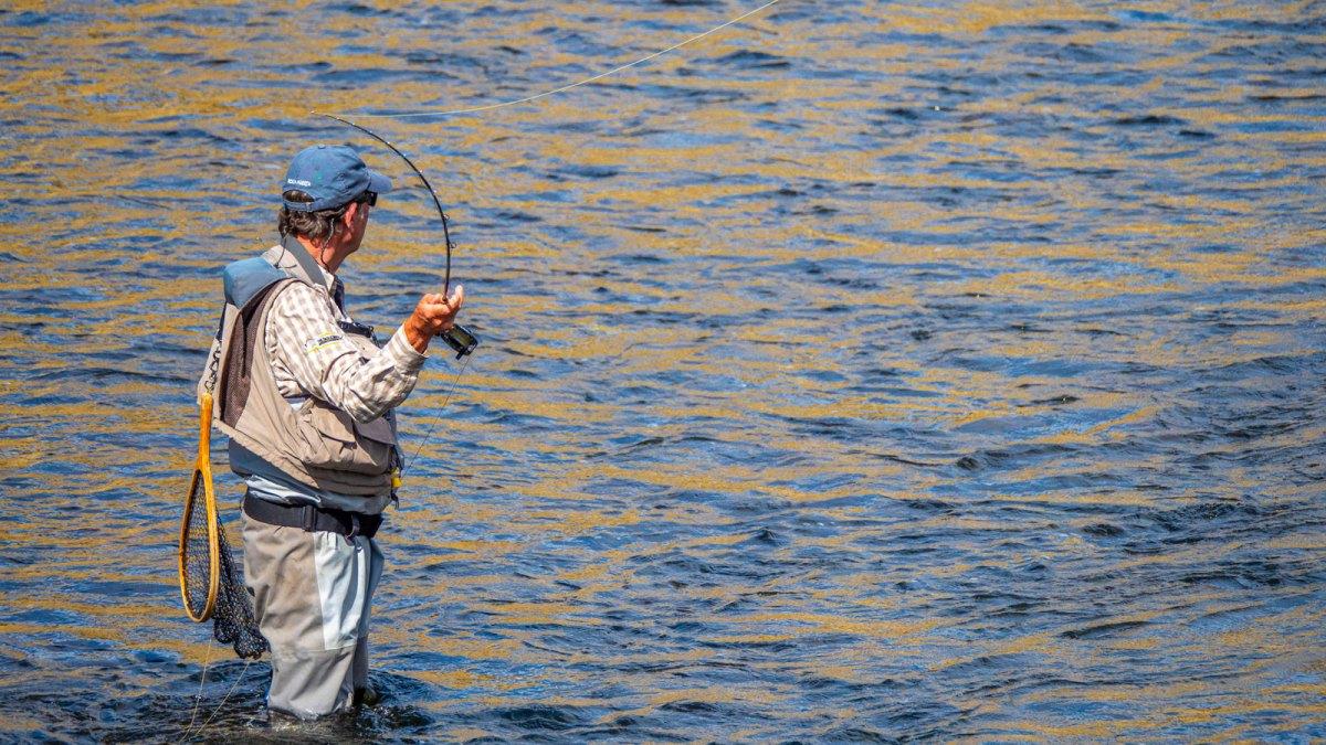Man flyfishing