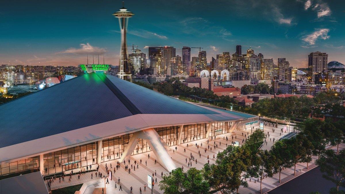 Climate Pledge Arena rendering