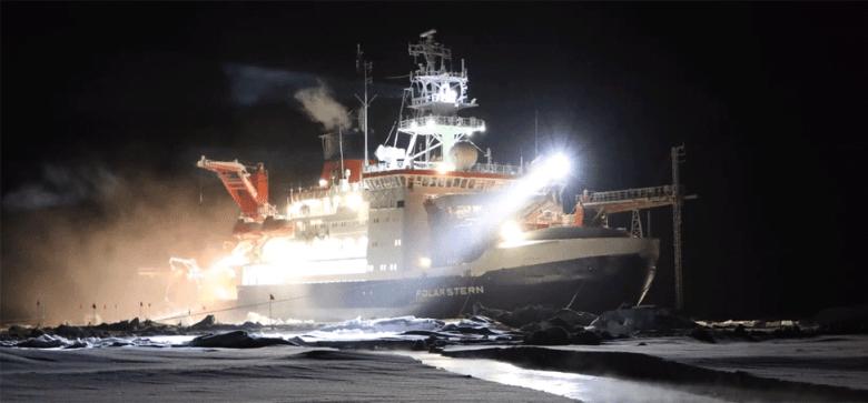 Polarstern at night