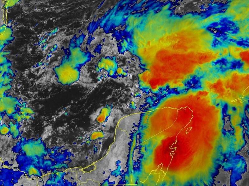 Infrared satellite image