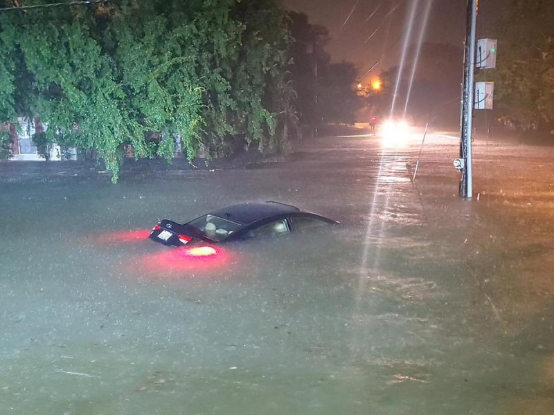 Flooding in Slidell, Louisiana, from Claudette