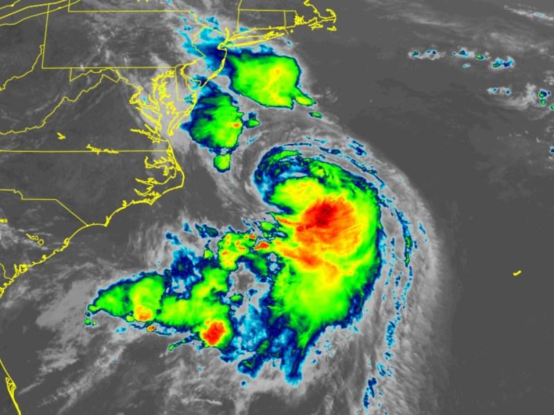 Satellite image of Hurricane Henri