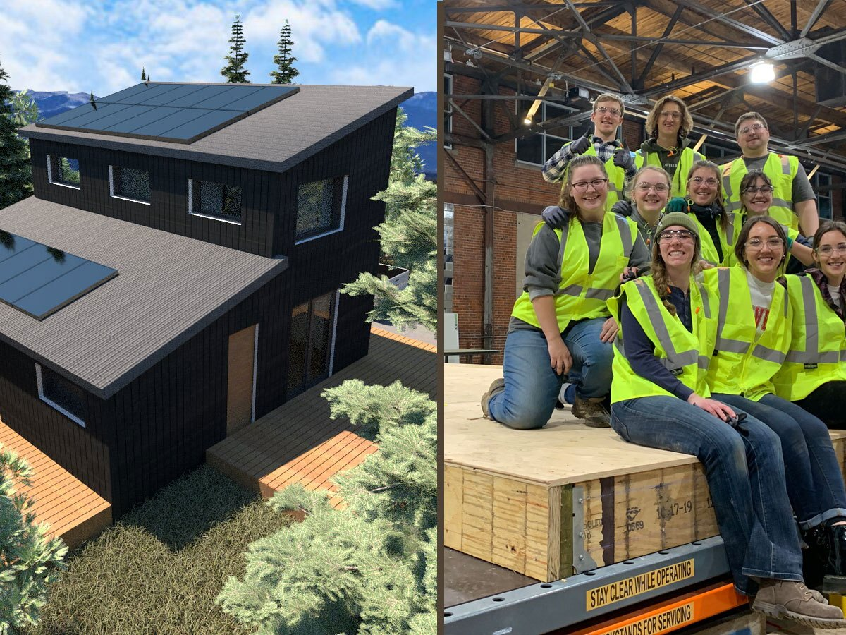 Solar house and design team