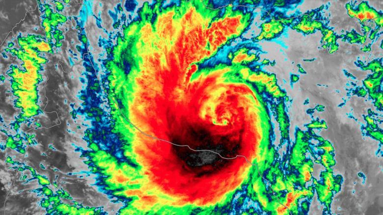 Infrared satellite image of Shaheen