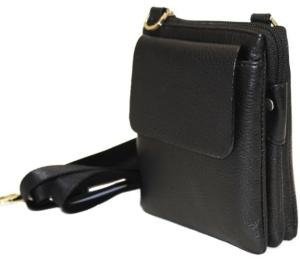 Кожаная мужская сумка-планшет через плечо