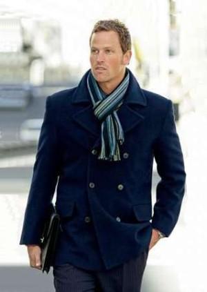 Мужское весенее пальто двубортное