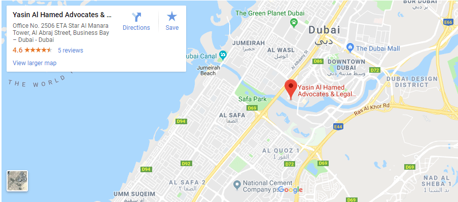 Law Firm in Business Bay Area Dubai