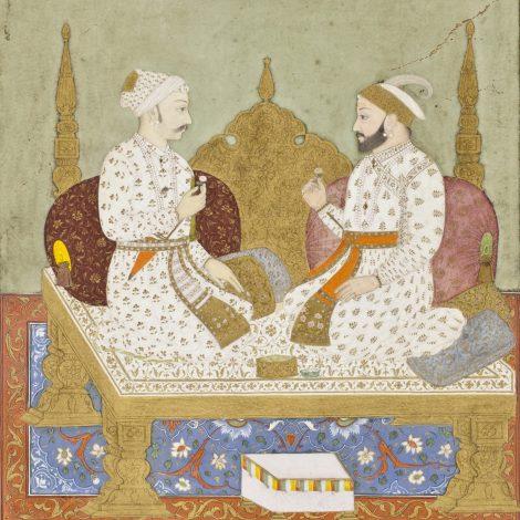 Maharana Sangram Singh of Mewar and Maharaja Sawai Jai Singh of Amber, Public Domain Image, LACMA