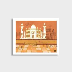 Agra Taj Mahal Art Print